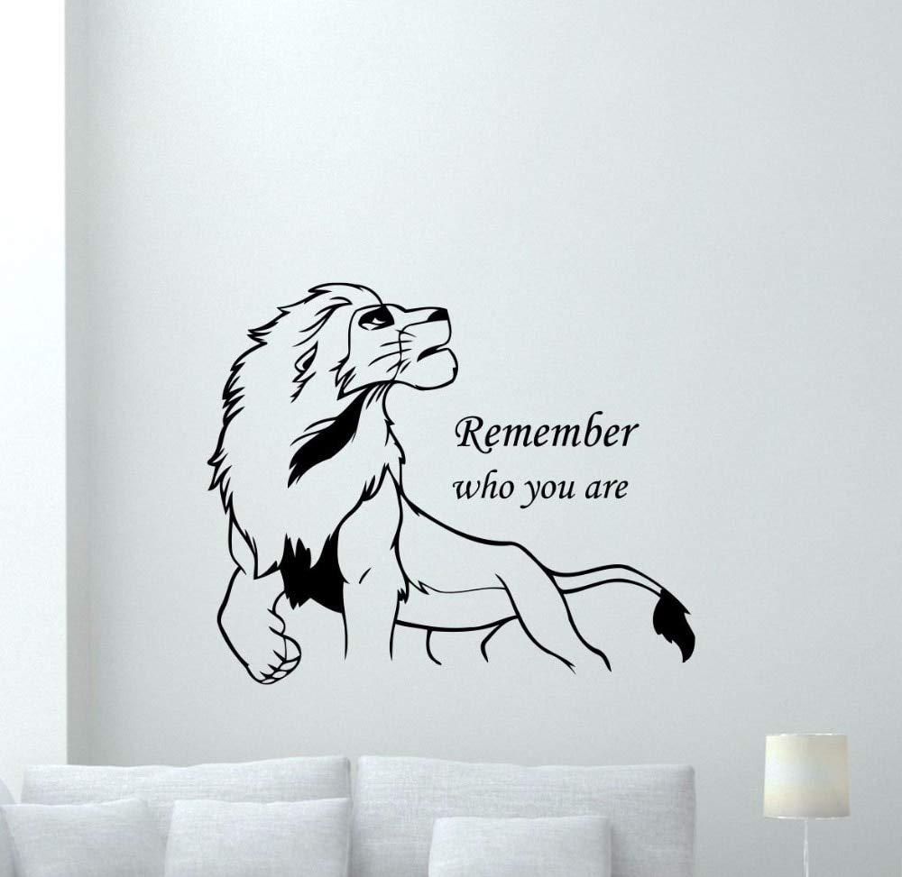alicefen Lion King Simba Tatuajes de Pared Recuerde quién es Usted ...