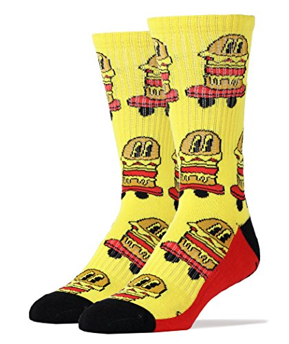 Oooh Yeah Socks Men's Luxury Combed Cotton Athletic Funny (BURGERS ON WHEELS]()