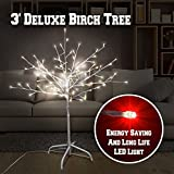 BenefitUSA ZH-0082-3 Christmas Silver Birch Twig Tree Light 112 Leds Lighted Tree Warm White Indoor Outdoor Christmas Decoration Xmas