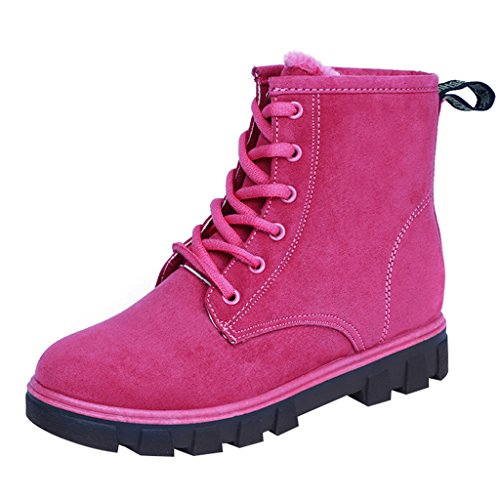 Optimal Women's Lace-up Waterproof Winter Snow Boots