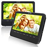 10.5'' Dual Screen DVD Player for Car Headrest Portable DVD player with Games for Kids, SD/ USB Slot (Black)