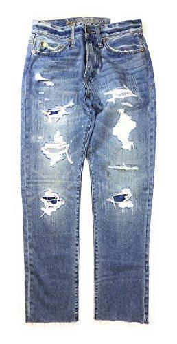 American Eagle Men's Slim Jean 4210 (Destroyed Light Wash) (34x30)