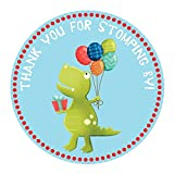 Dinosaur Stickers - Birthday or Baby Shower Party Favor Labels - Set of 50
