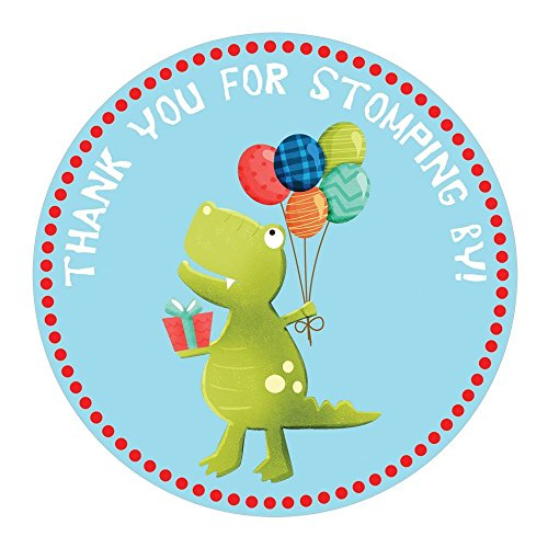 Dinosaur Stickers - Birthday or Baby Shower Party Favor Labels - Set of 50 by Adore By Nat