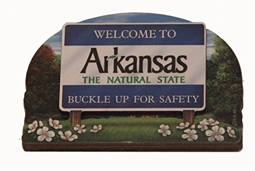 Arkansas State Welcome Sign Wood Fridge Magnet - Arkansas Wood Sign