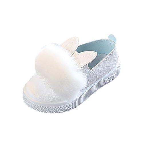 Niñas Mocasines al Aire Libre, Moda Otoño Primavera Casuales Loafers Zapatos Planas con Suela Blanda Comodos Clásicos Zapatillas para Bebé Niños Tamaño ...