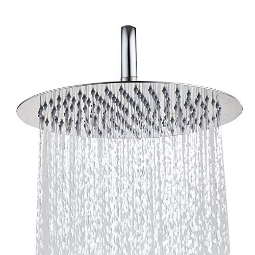 Rainfall Shower head,Stainless Steel High Pressure 8 Inch Shower Head Replacement With - Self Bathroom Cleaning Mirrors