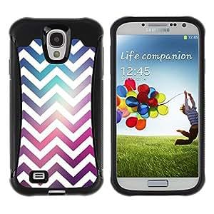 """Pulsar iFace Series Tpu silicona Carcasa Funda Case para Samsung Galaxy S4 IV I9500 , Espacio púrpura del trullo Moda reflectante"""""""