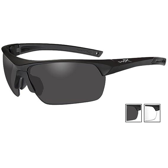 79607d13c33 Amazon.com  Wiley X 4004 Guard Advanced Glasses Smoke Grey Clear Lenses  Matte Black Frame  Sports   Outdoors