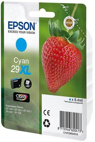 Epson 29XL C - Cartucho de Tinta para impresoras (Cian, Alto, 6,4 ...