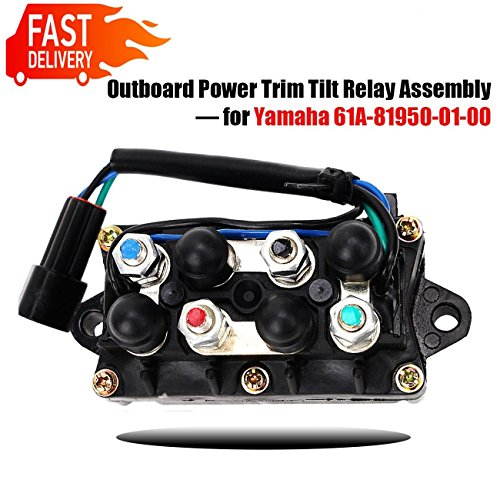 - Motorcycle Outboard Power Trim Tilt Relay Assembly for Yamaha 61A-81950-01-00