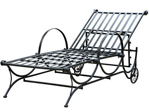 International Caravan Mandalay Iron Patio Multi-Position Chaise Lounge by International Caravan