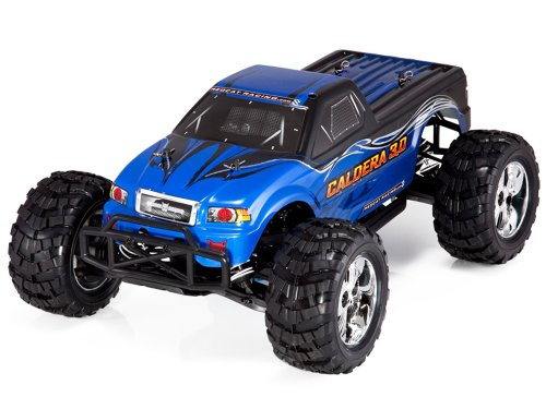 Redcat Racing Caldera 3.0cc 2-Speed Nitro Monster Truck, Blue, 1/10 Scale
