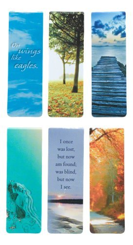Beautiful Magnetic Bookmarks with Scripture and Words of Inspiration – Set of 6