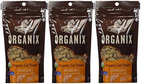 Castor & Pollux Organix Organic Cat Treats, Pack of 3 (Chicken)