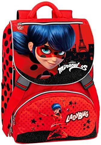Franco Panini - Miraculous Ladybug Zaino Estensibile + Gadget: Amazon.es: Juguetes y juegos