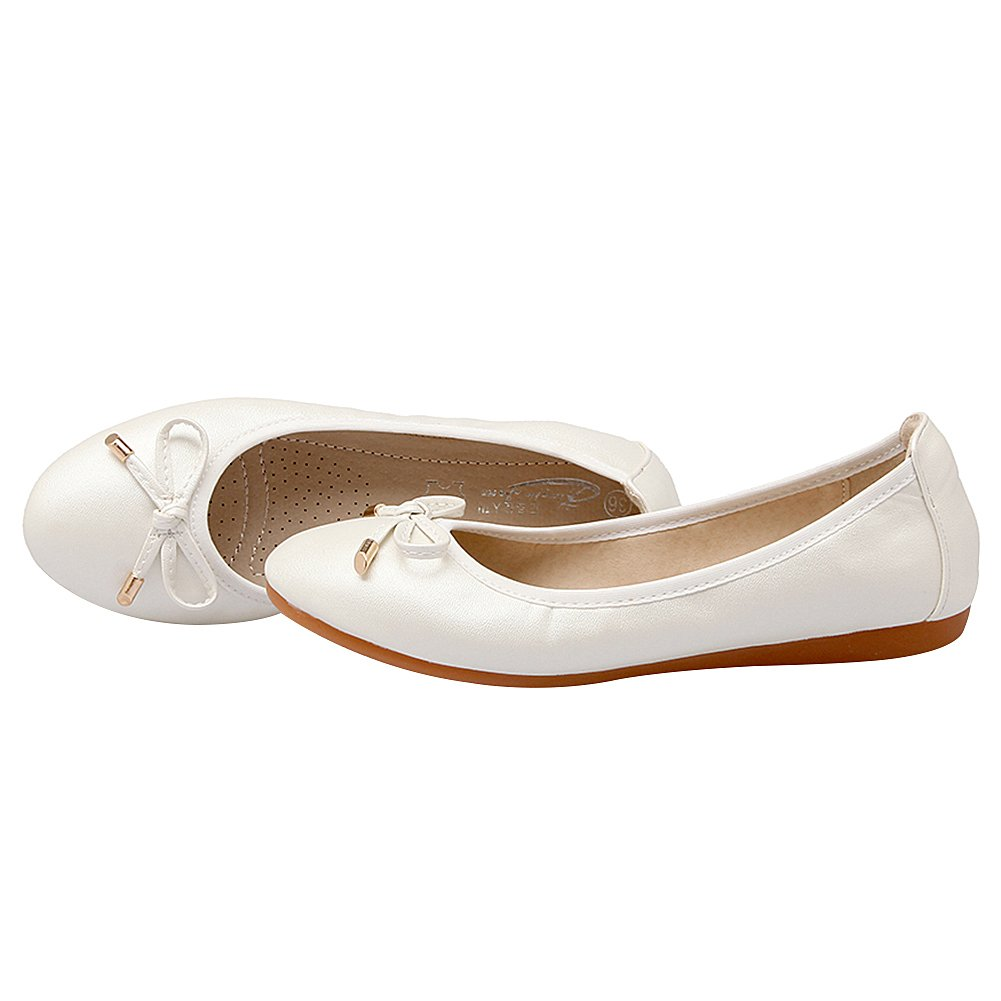 ggudd Femmes /à Enfiler D/écontract/ée Bowknot Confort en Marchant Fl/âneurs Pliable Ballet Chaussures Plates