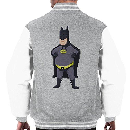 Grey Heather Men's Batman Jacket Carlos Varsity Pixel white Juan wqYgt0f