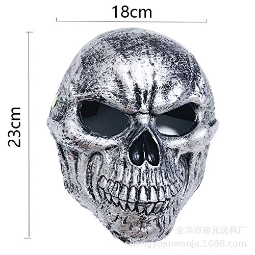 2019pu Mask Halloween Wolf Head Mask Animal Hood Simulation Prop Prom Misogynistic Toys Size Skeleton ()