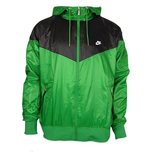 80344660ed09 Mens Nike Air Green Retro Windrunner Windbreaker Hooded Running Jacket Size  XXL
