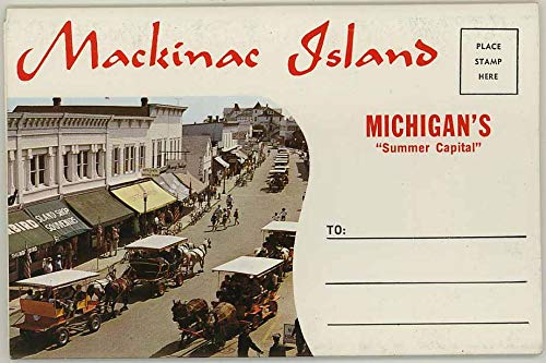 Mackinac Island Michigan Summer Capital - 1967 Hiawatha Souvenir Postcard Folder