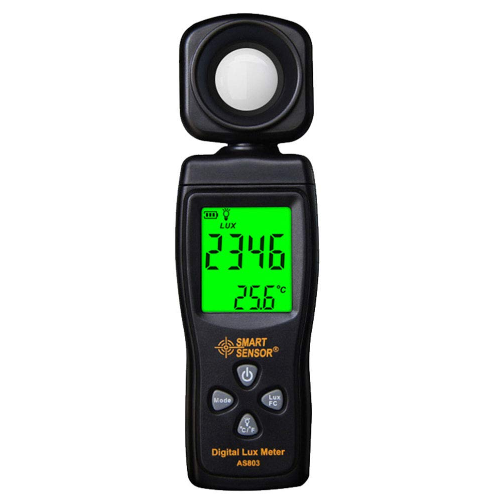 Lee Lam Light Meter Digital Light Meter with Display (Range from 1~200,000Lux),Unit Lux/Fc,Back Light,Data Hold,Data Storage by Lee Lam