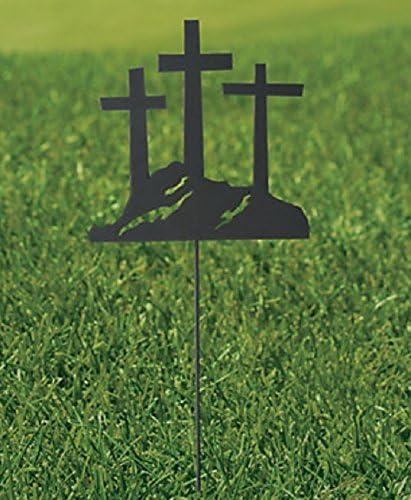 Tres Cruces calavera Cruz de Pascua Metal sombra Patio juego 30