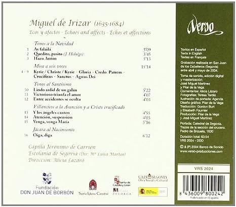 Escolania de Segovia, Miguel de Irízar, Alicia Lázaro ...
