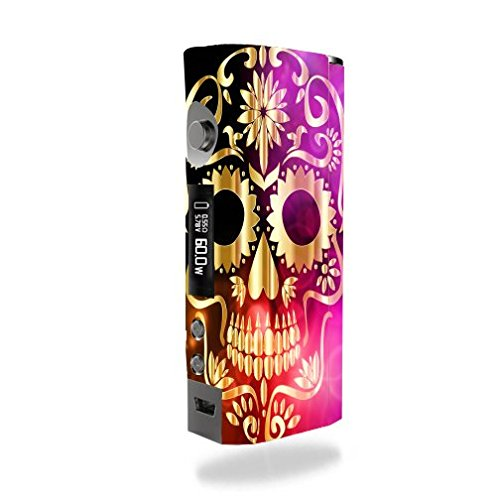 Kanger KBOX Mini Vape E-Cig Mod Box Vinyl DECAL STICKER Skin Wrap / Golden Skull Art Artwork Design Print Image