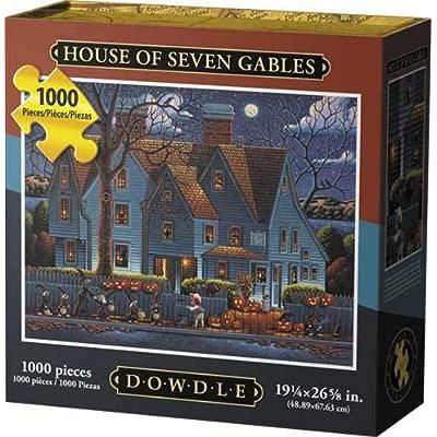 D·O·W·D·L·E Dowdle Jigsaw Puzzle - House of Seven Gables - 1000 Piece: Toys & Games