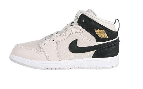 0dc693d26c22 Nike Jordan 1 MID BP Baby-Boys Fashion-Sneakers 640734-023 1Y - Light Bone Metallic  Gold-Black-White  Amazon.ca  Shoes   Handbags