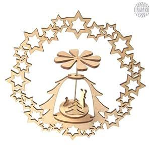 Damasu KL911 - Accesorio para hacer encaje de bolillos (madera), diseo de estrellas
