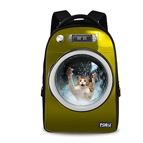 FOR U DESIGNS Funny Bulldog Print Men Boys Personalized Animal Travel Laptop Backpack Bag