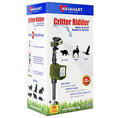 Havahart 5277 Critter Ridder Motion-Activated Animal Repellent & Sprinkler, Green