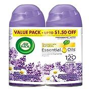 Air Wick Freshmatic 2 Refills Automatic Spray, Lavender & Chamomile, (2X6.17oz), Air Freshener
