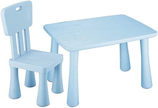 ZHAOHUI Mesas Y Sillas Infantiles Plástico PP Set Infantil Mesa ...