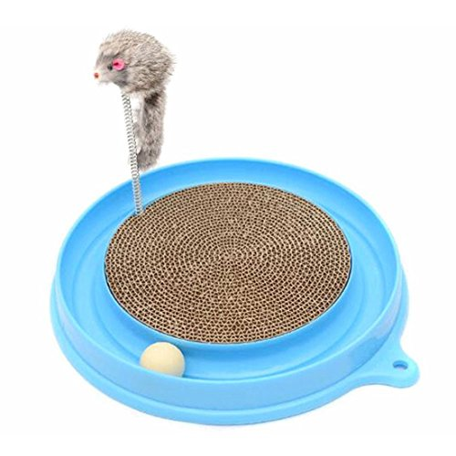 Turbo Scratcher Cat Toy with Mouse Swatter, Vexverm Kitty Cat Amusement Toys Interactive Play Ramp for Cats Pet Intelligence Toy 80%OFF