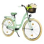 Milord-26-3-velocit-Bici-da-Citt-Bicicletta-con-Cesto-Donna-City-Bike-Retro-Vintage