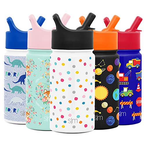 Simple Modern SMC-S-14-PLP 14oz Summit Kids Water Bottle Thermos with