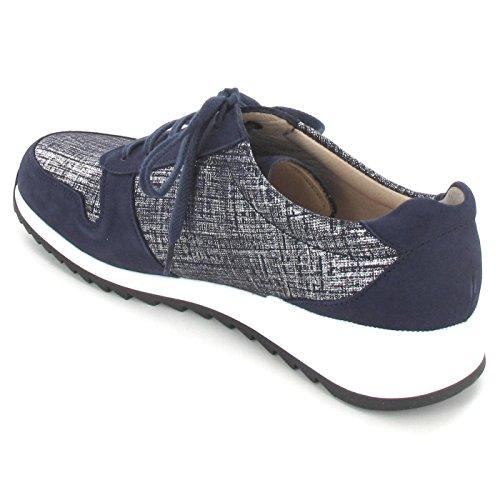 FINNCOMFORT  Sidonia 901616, Chaussures de ville à lacets pour femme bleu bl.-kombi.