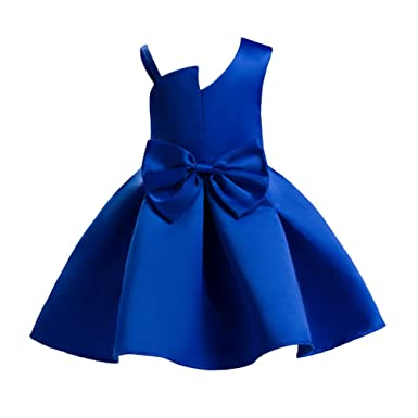 8388c44014bf YuanDian Girls Kids Princess Dresses Solid Color Sleeveless Birthday Party  Ball A Line Cute Childrens Occasion Formal Dress For 3-10 Years Old  ...