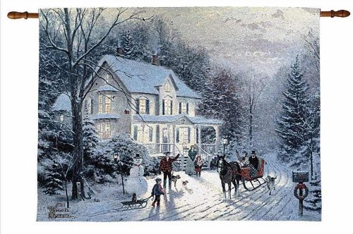 Thomas Kinkade Home For Christmas (Thomas Kinkade Home For The Holidays Fiber Optic Wall Hanging Manual Woodworkers)