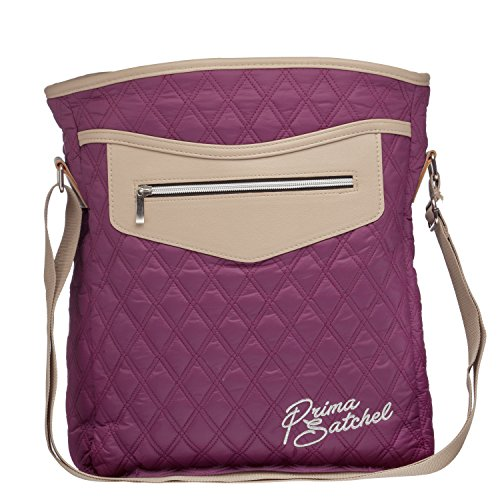 Prima Satchel Gril's Back To School Puffed Quilted Cross Body Shoulder Tote Bag Tt-egp