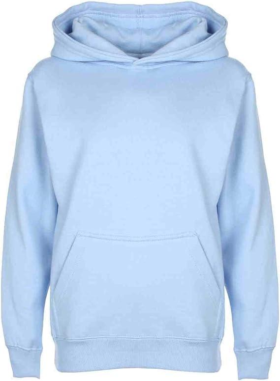 Mischief Ages 1-15 Boys Girls Plain Fleece Hoodie Unisex Childrens Hooded Sweatshirt Pullover Hoody 30 Colours