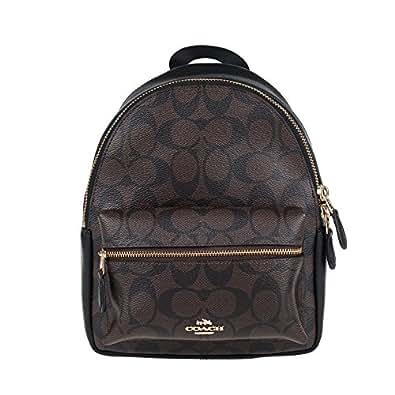 Amazon.com: Coach Women's backpack F38302 (Dark brown