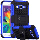 Core Prime Case, LK [Shock Absorption] Hybrid Dual Layer Armor Defender Protective Case Cover with Kickstand for Samsung Galaxy Core Prime, Blue