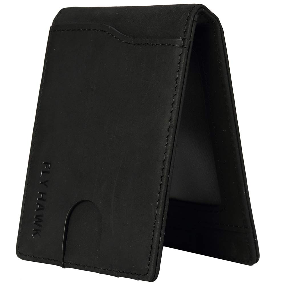 2f0f74b49a82 Wallets for Men Genuine Leather RFID Blocking Slim Front Pocket Wallets  with Money Clip