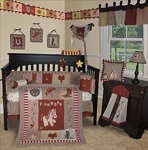 SISI Baby Bedding -Western Cowboy 13 PCS Crib Bedding Set