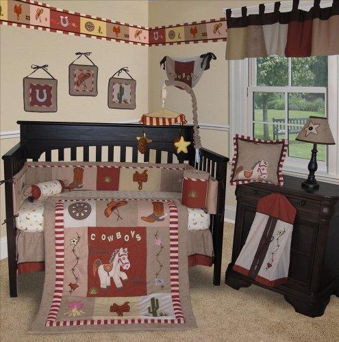 SISI Baby Bedding -Western Cowboy 15 PCS Crib Bedding Set