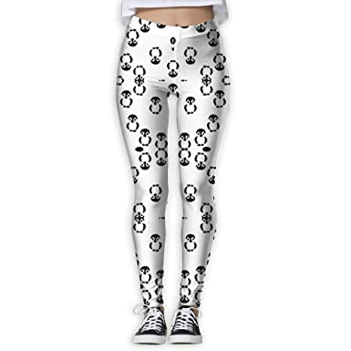 Amazon.com: Leggings para mujer, color blanco y negro ...